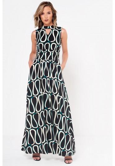 3f25291e7f Lainey Choker Printed Jersey Maxi Dress Lainey Choker Printed Jersey Maxi  Dress