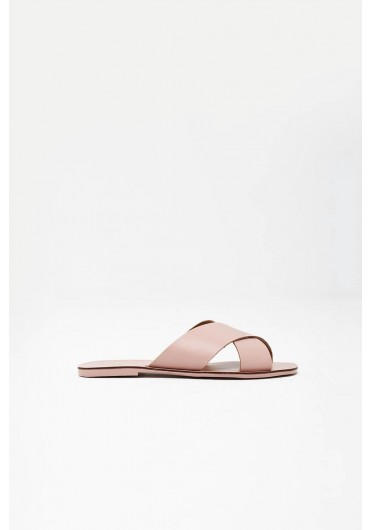 d0f98e80d PSCHARA Leather Sandal in Blush Pink PSCHARA Leather Sandal in Blush Pink