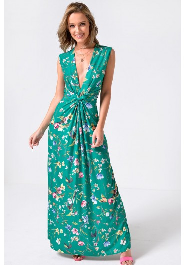 8cba1494fdbe ... Poppy Floral Print Maxi Dress in Green