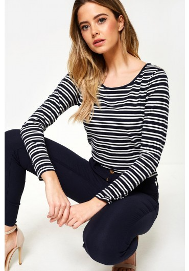 8000bae44e Noma Striped Long Sleeve Top in Navy ...