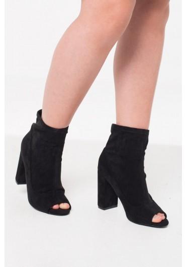 20c3c9553bc7c Trish Peep Toe Ankle Boot in Black Suede ...