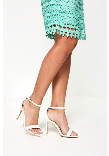 da6873df52e Acantha Barely There Heeled Sandals in White ...