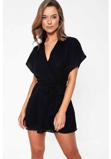 3a86ec5e5a7f Paige Belted Playsuit in Black ...
