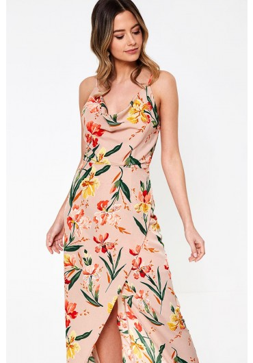 79a4ed42223 Cici Cowl Neck Maxi Dress in Floral Print ...