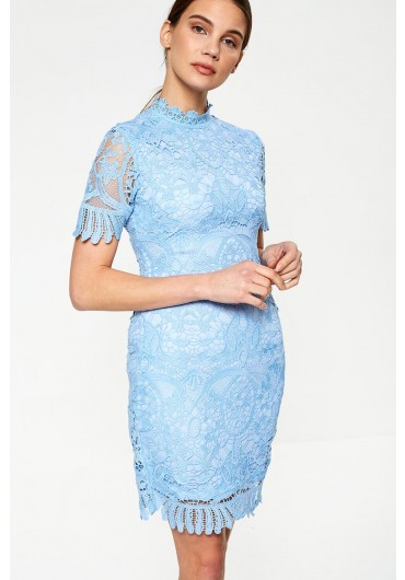 3e2331ad4c40 Diana Crochet Overlay Dress in Baby Blue ...