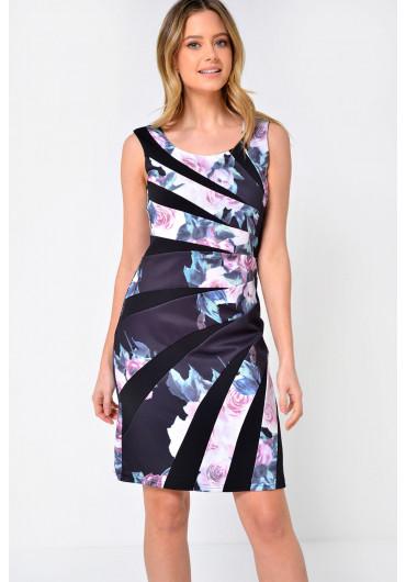 684f0ddd89da ... Jess Tailored Floral Print Dress in Black