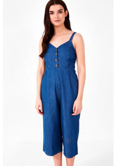 889176c98e411e Hayden Denim Culotte Jumpsuit Hayden Denim Culotte Jumpsuit. BOUTIQUE