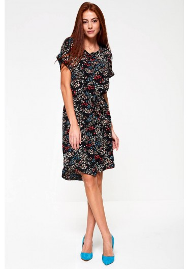 8049bb65fe Josephine Dress in Black Floral Print Josephine Dress in Black Floral Print