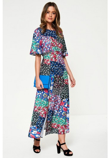 d0570fb268f Maxi Tea Dress in Patchwork Print Maxi Tea Dress in Patchwork Print.  BOUTIQUE