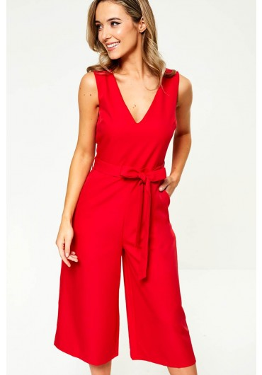 76006ea18d2 Donna Culotte Jumpsuit in Cherry Donna Culotte Jumpsuit in Cherry
