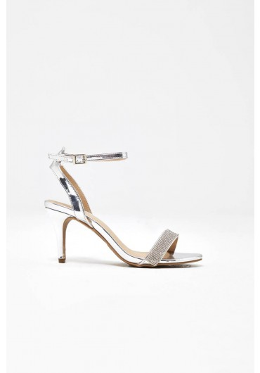 909ad3a4e ... Jocelyn Diamond Ankle Strap Sandals in Silver. Quick view