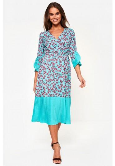 9de593e01f0 Floral Midi Dress in Mint Floral Midi Dress in Mint