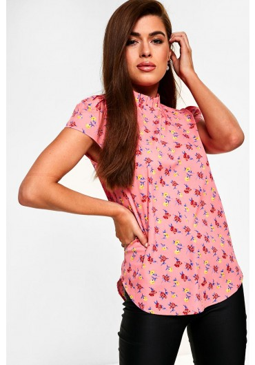 2c89d01c7704a5 ... Everest Floral Print Blouse in Pink
