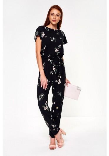 a103475fe47d Star Floral Print Jumpsuit in Black Star Floral Print Jumpsuit in Black