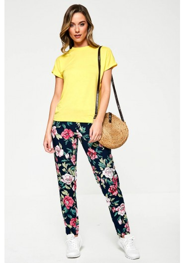 f30094f12457 JDYStar Floral Trousers in Navy ...