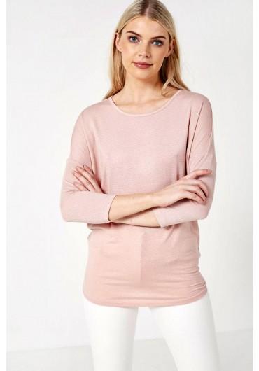 11bb29dc96f ... Minna Glitter T-Shirt in Baby Pink
