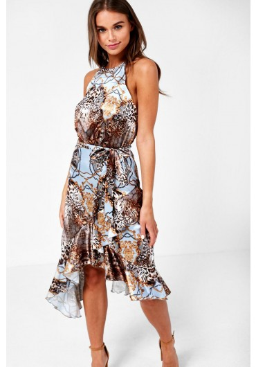 eac583ef80 Clinton Halter Neck Dress in Chain Print ...
