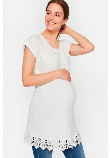 72c082e569b8a Aletta Maternity Tunic Top in White ...