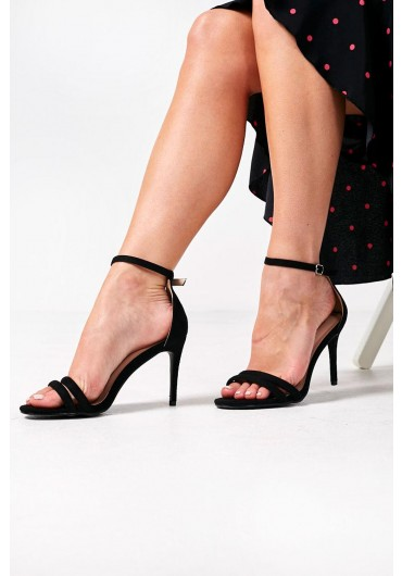 40f94d0d47024 Isabella Ankle Strap Heels in Black Suede ...