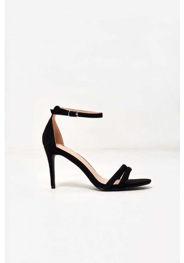 cfcee0310514f Isabella Ankle Strap Heels in Black Suede ...