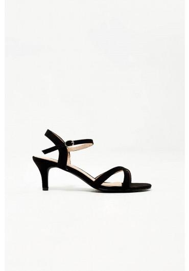 5834d867b4d1 Ami Kitten Heel Sandals in Black Suede ...