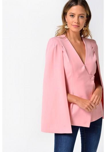 c20498bef6 Clarabel Cape Blazer in Pink ...