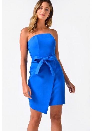 126dee0ac1 Neve Bandeau Mini Dress in Blue ...