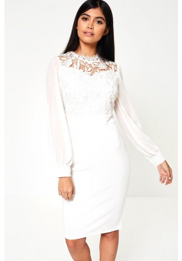 3aade9de82 Kai Lace Top Occasion Dress in Ivory ...
