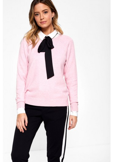 a210fe4e355 Lesly Long Sleeve Knit Jumper in Baby Pink ...