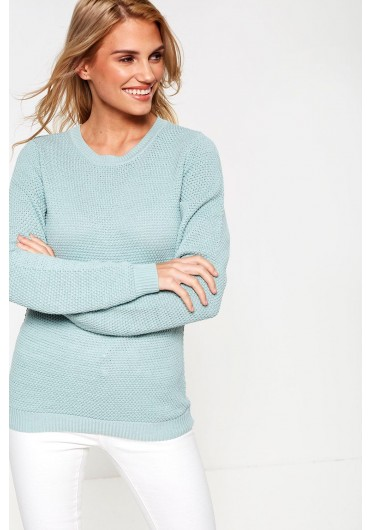 e06d2dc9dfe ... Chassa Long Sleeve Knit Top in Mint