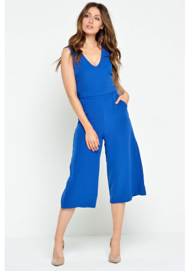 276a7576133 Donna Culotte Jumpsuit in Royal Blue ...