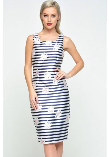 13c5cbe37ee8 Nadine Floral Midi Dress in Navy ...