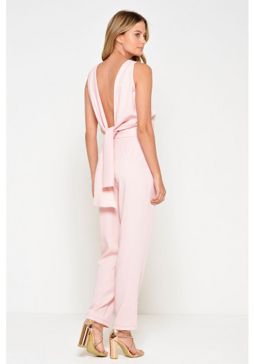 ee68ff3d1458 Kelly Knot Back Jumpsuit in Blush ...
