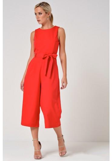 1a7e15215c8 Layla Longline Culotte Jumpsuit in Red Layla Longline Culotte Jumpsuit in  Red