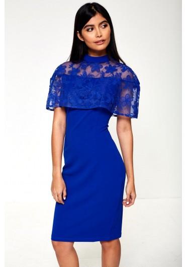 e02df314b2d2 Callie Cape Tailored Dress in Blue ...