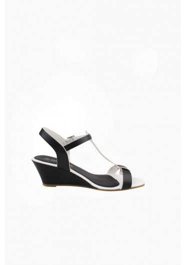 69f9f4a42 Wild Mid Wedge Sandal in Black ...