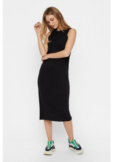 062eb8b32b88 Sleeveless Midi Bodycon Dress in Black ...