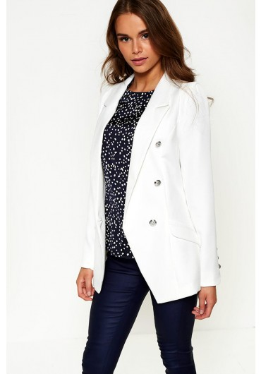 c49d0b3f38a1 ... Tess Military Blazer in Off White