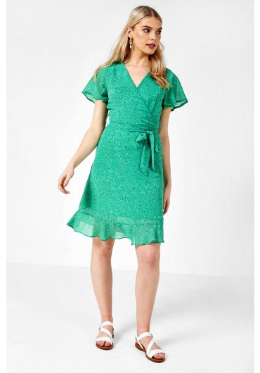 ee31b15eae1d Caicos Multi Dot Print Dress in Green ...