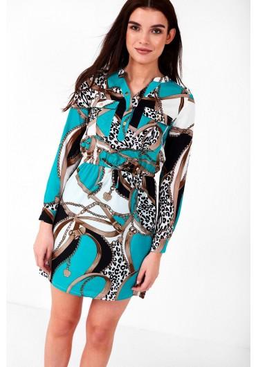 db31ea2118bd Austin Multi Print Dress in Green ...
