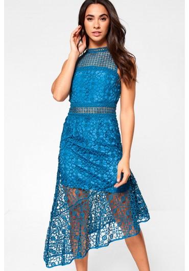 6daf1087c9 Becca Occasion Crochet Dress in Teal ...