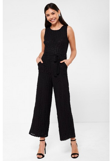 a30707a19b96 Donna Occasion Crochet Jumpsuit in Black Donna Occasion Crochet Jumpsuit in  Black