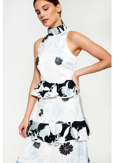Felicia Occasion Dress in White Floral ... 6f7b492e8