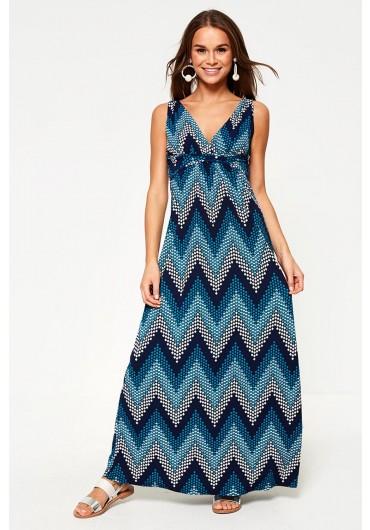 5c2cc6652 ... Amalita Printed Maxi Dress in Teal