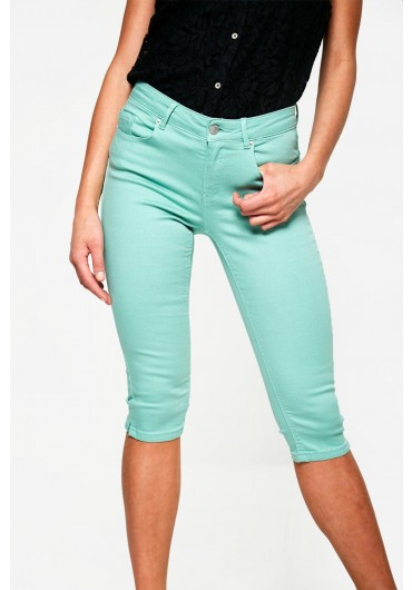 942bcdf06b77a Cropped Push Up Skinny Jeans in Mint ...