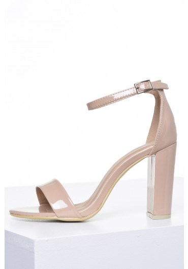 dbf8eaacd04a ... Molly Block Heel Sandals in Nude Patent