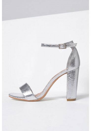 ed607f75b234 ... Molly Block Heel Sandals in Silver. Quick view