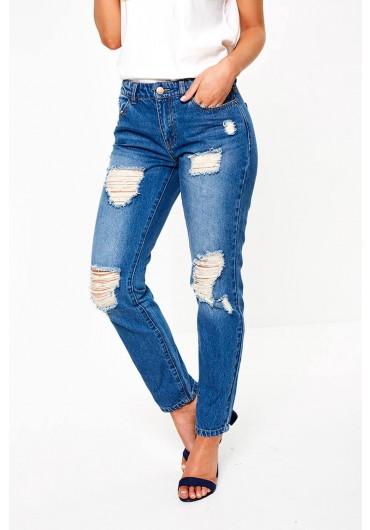ae8dddab41b Jazz Regular Distressed Boyfriend Jeans ...