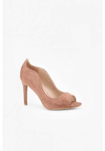 d8f5eeaf11 Ivor Open Toe Court Shoes in Light Taupe ...
