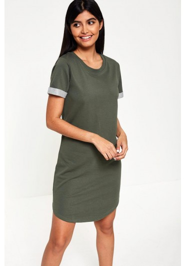 124396f427 Ivy Short Sleeve Midi Dress in Khaki ...